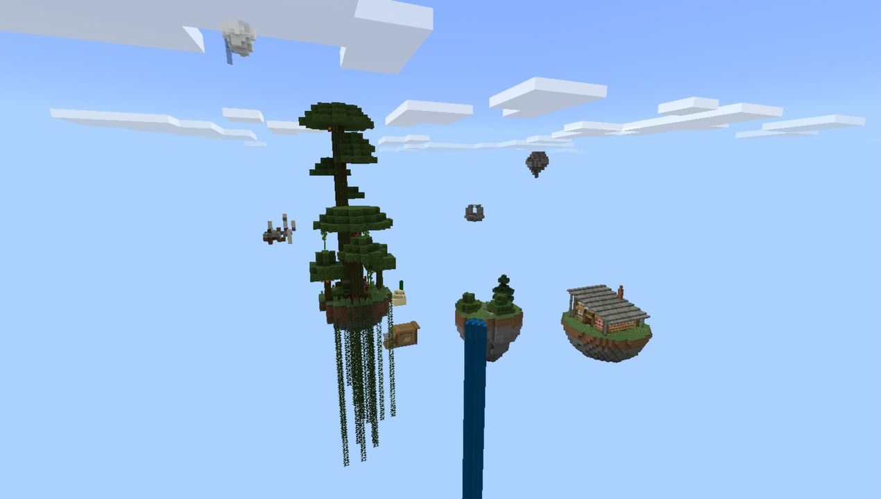 image for 3Progressive Skyblock map for MCPE