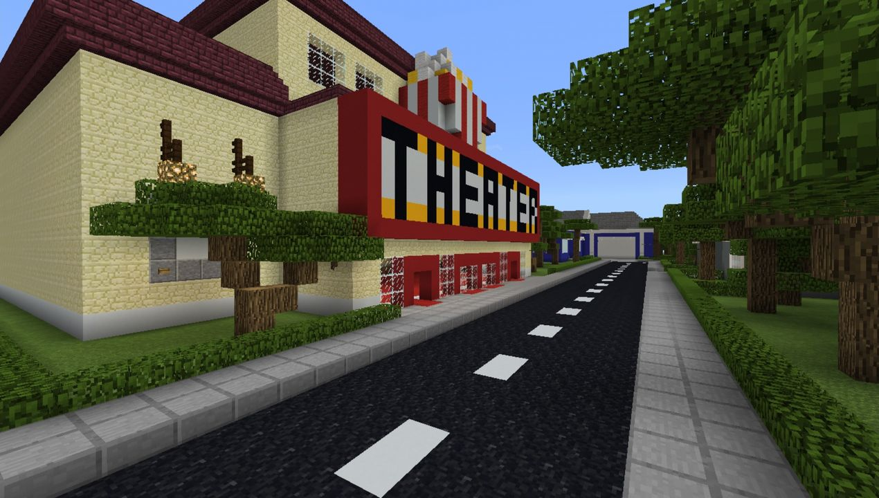 image for 2School and Town MCPE map