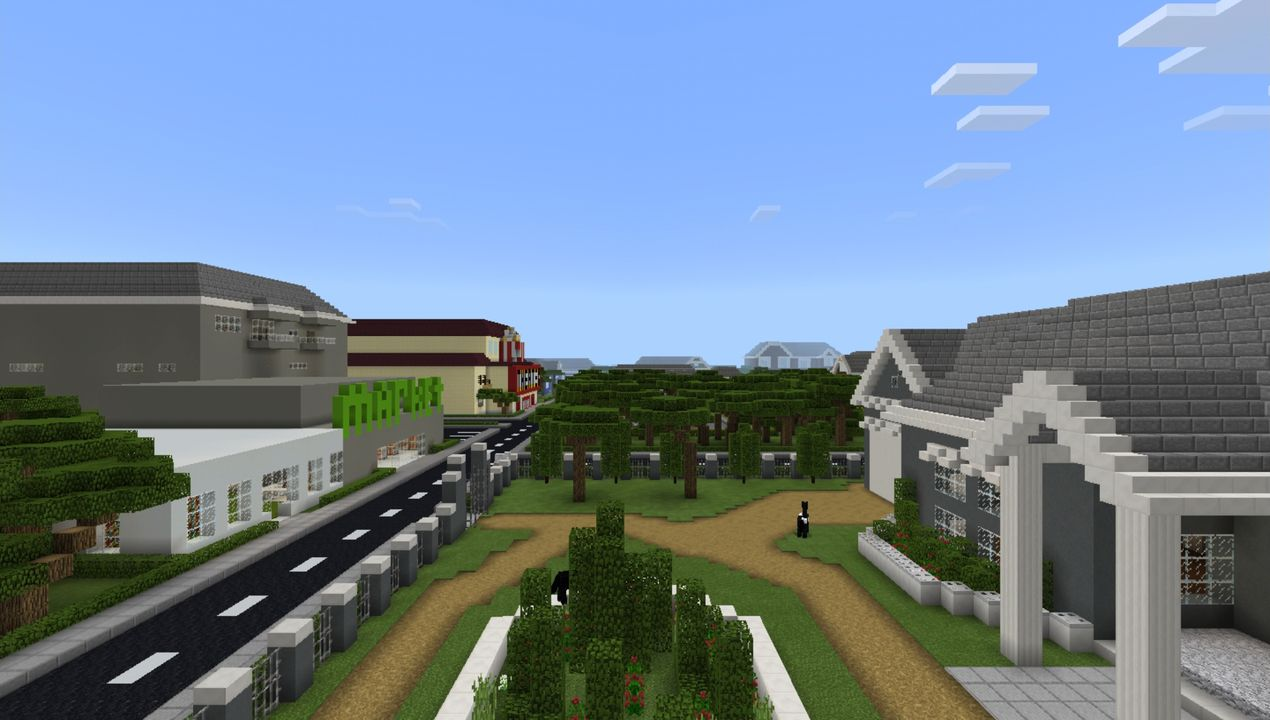 image for 4School and Town MCPE map