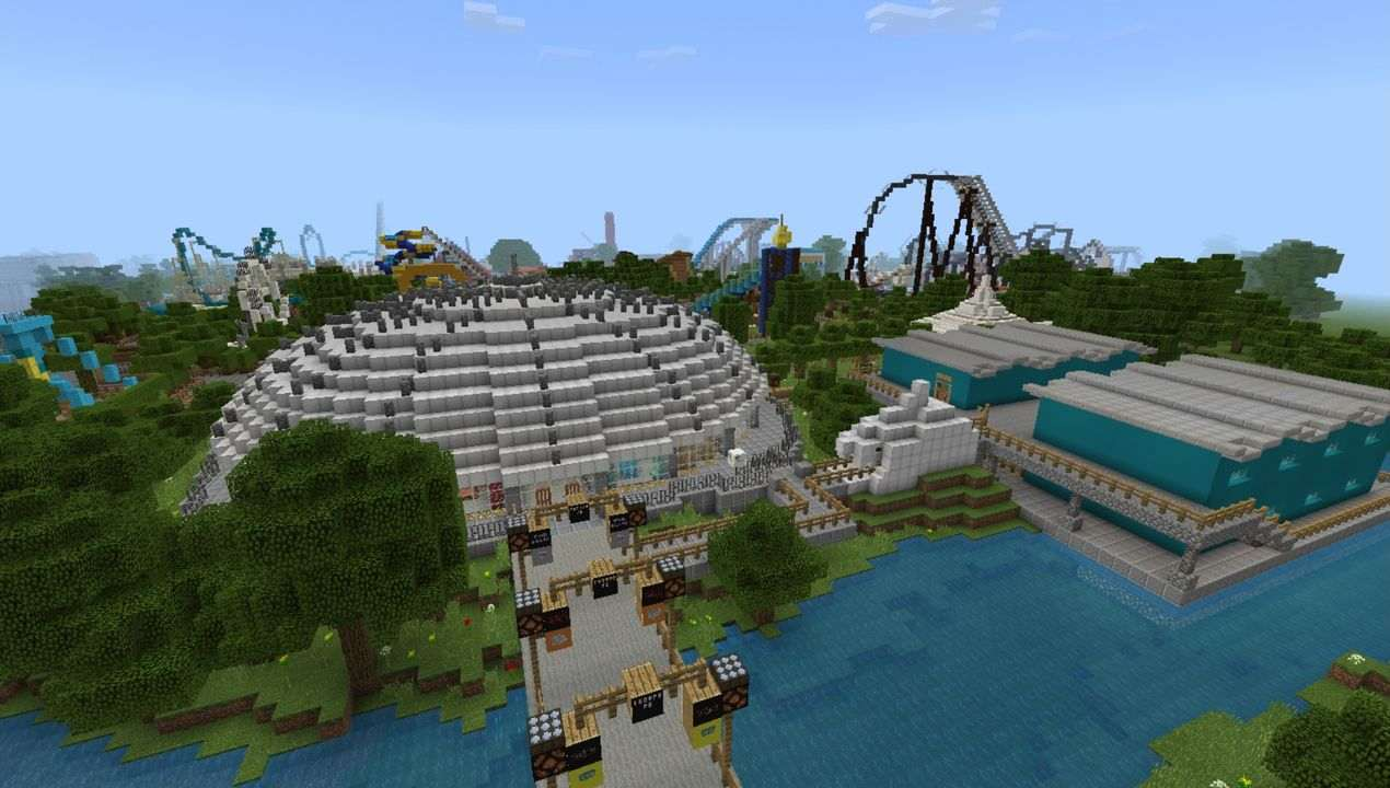 image for 2Thorpe Park MCPE map