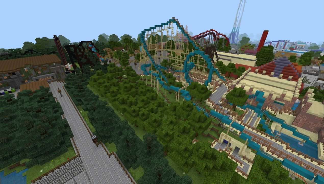 image for 3Thorpe Park MCPE map