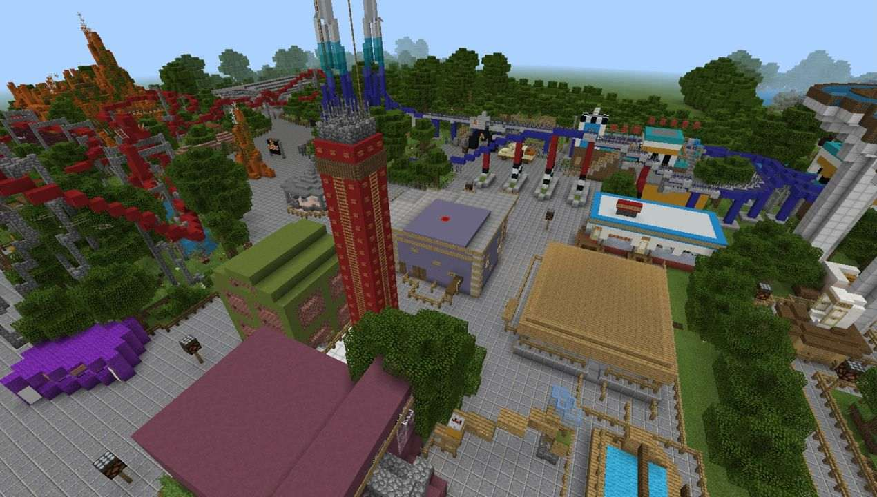image for 4Thorpe Park MCPE map