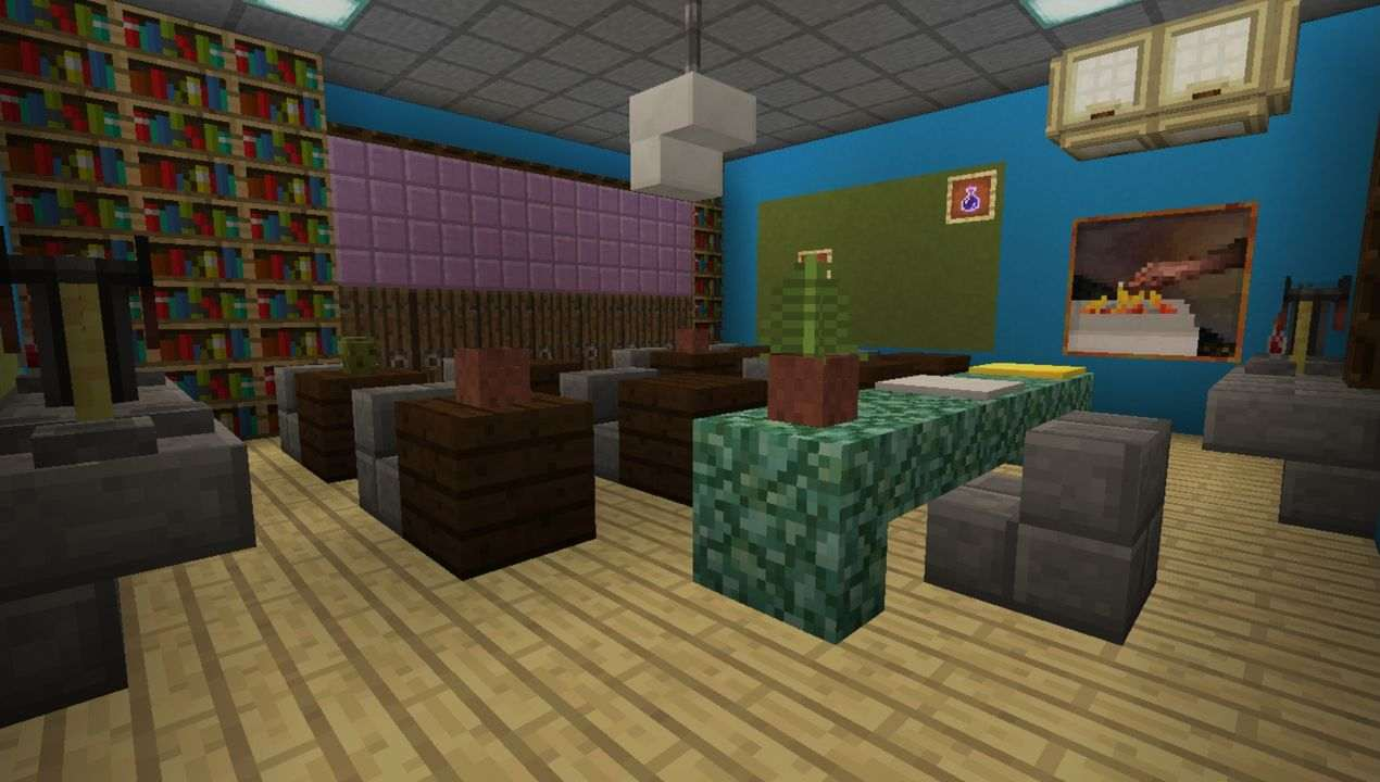 image for 1Find The Button: School Edition MCPE map