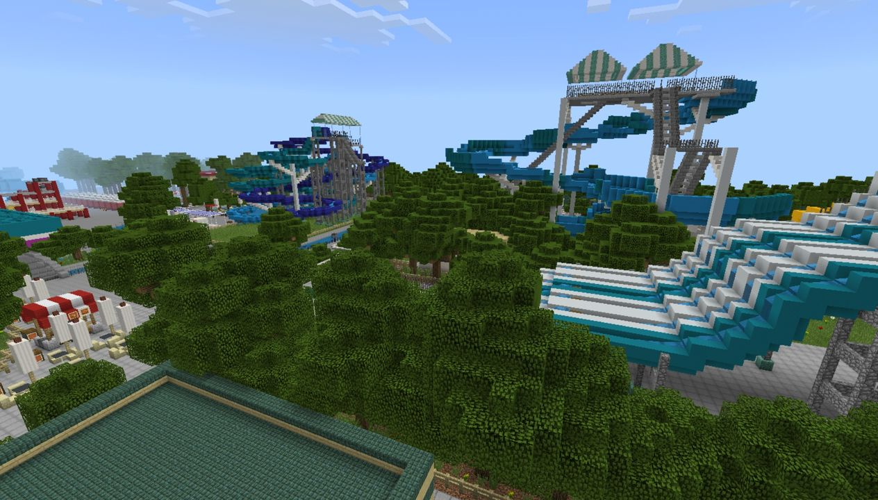 image for 2Mega Water park MCPE Map. Amusement Park