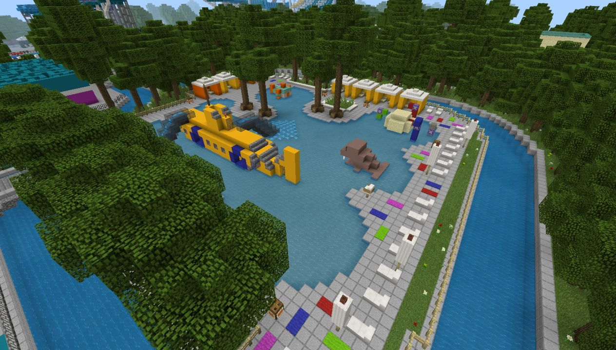 image for 4Mega Water park MCPE Map. Amusement Park