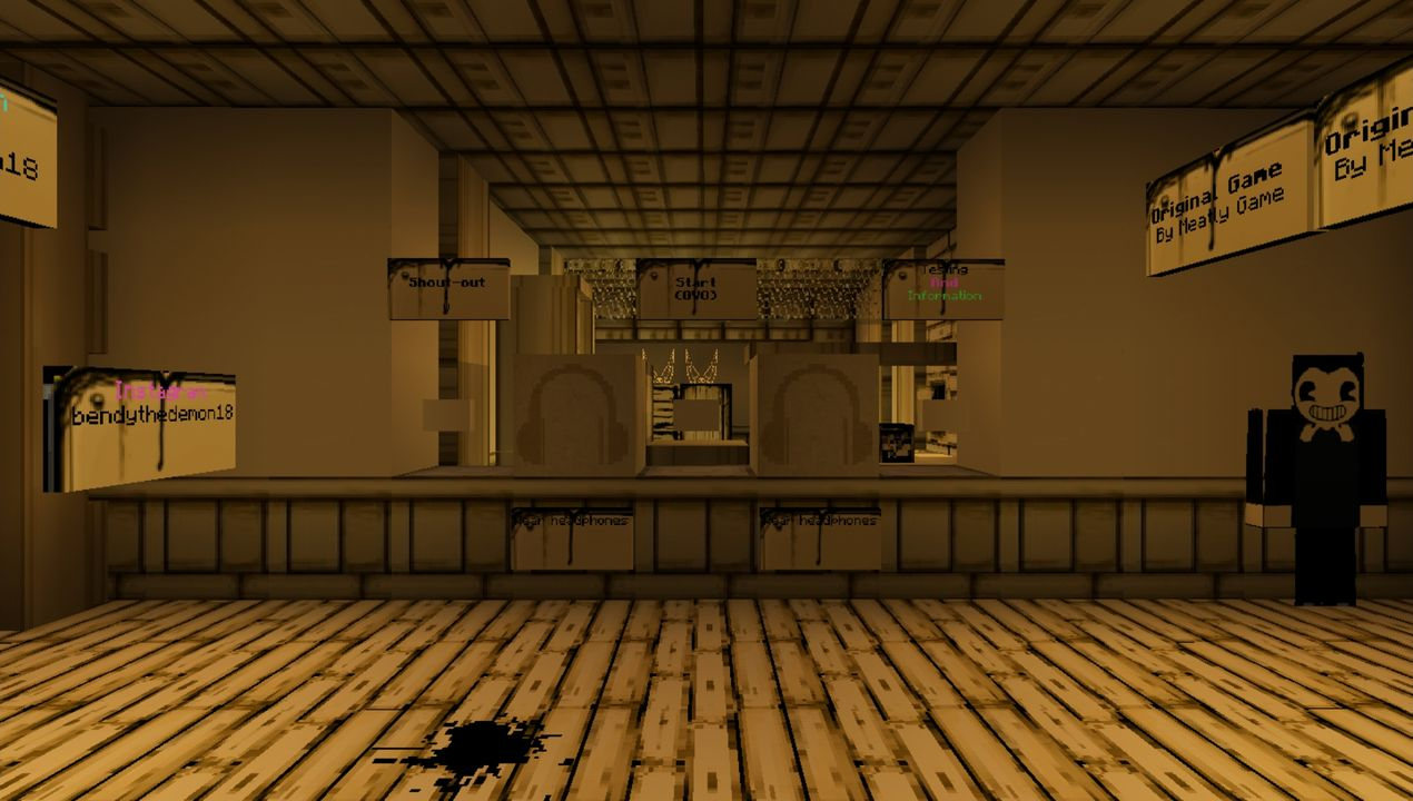 image for 1Bendy Game Horror MCPE map (Previous Story 1)