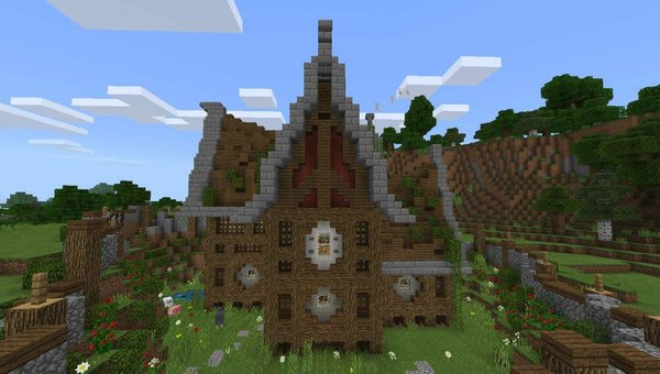 A Nice Survival House MCPE map
