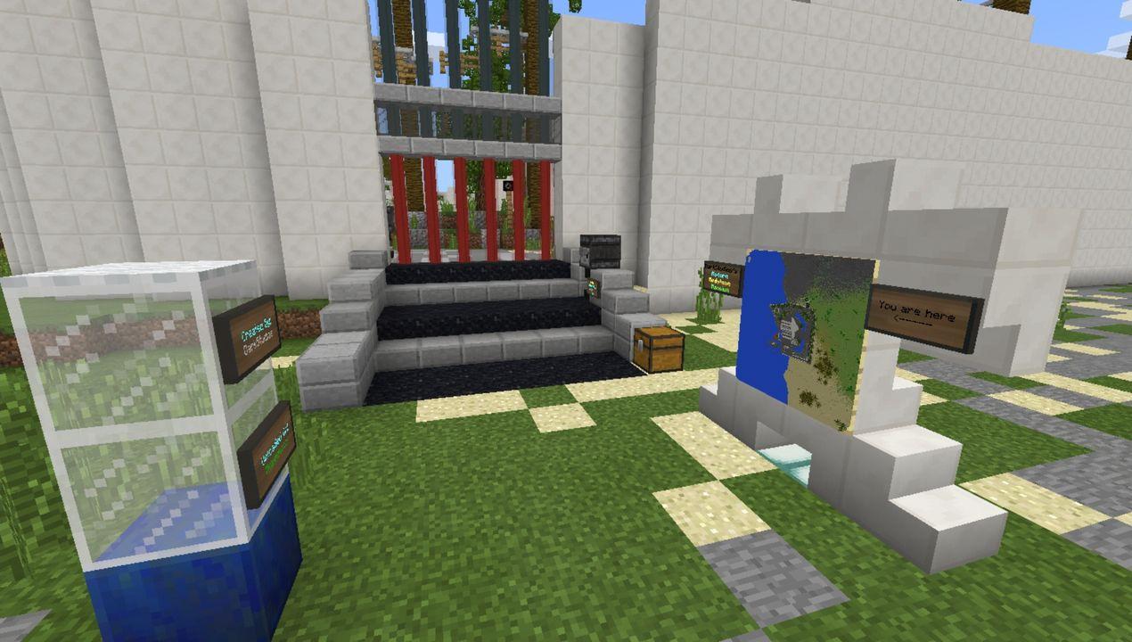 image for 1Modern Redstone Mega Mansion MCPE map