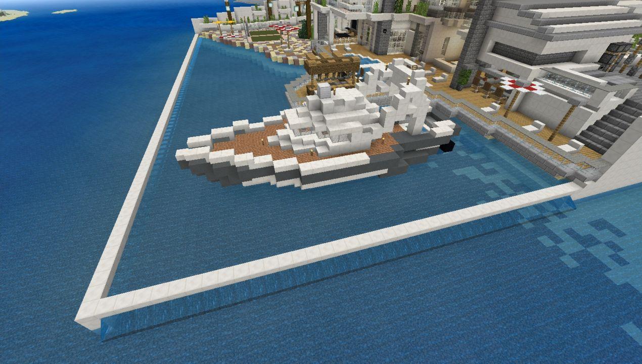 image for 4Modern Redstone Mega Mansion MCPE map