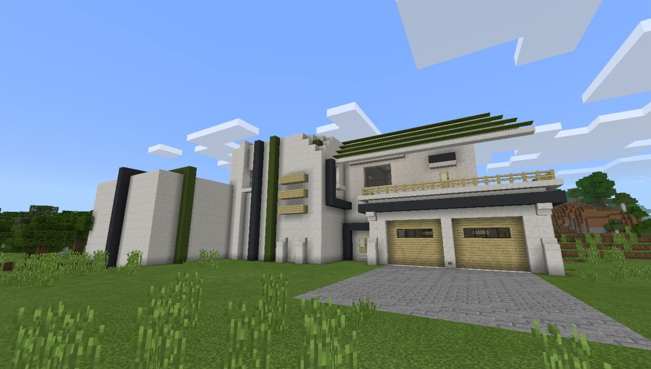 Castle House Mansion Modern Mansion 2 All For Minecraft Pe Game