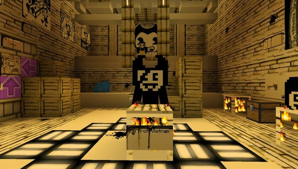 Bendy Game Horror 3 map for MCPE
