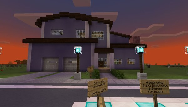 Redstone Neighborhood MCPE map