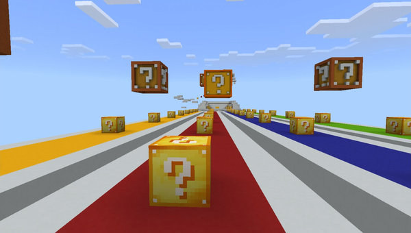 LuckyBlocks Race MCPE map