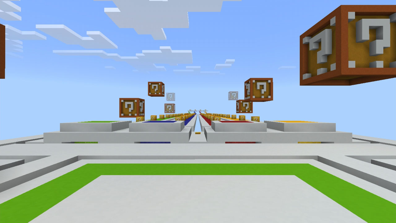 image for 2LuckyBlocks Race MCPE map