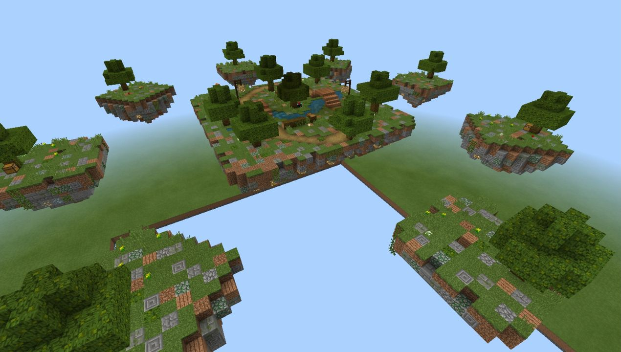 image for 3VanillaGrinders SkyWars MCPE map
