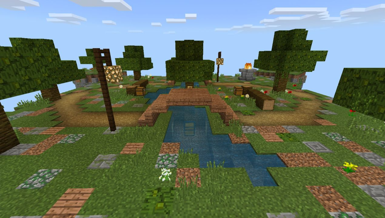 image for 4VanillaGrinders SkyWars MCPE map