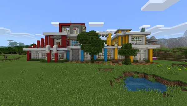 Mansion (Colourful House) MCPE map