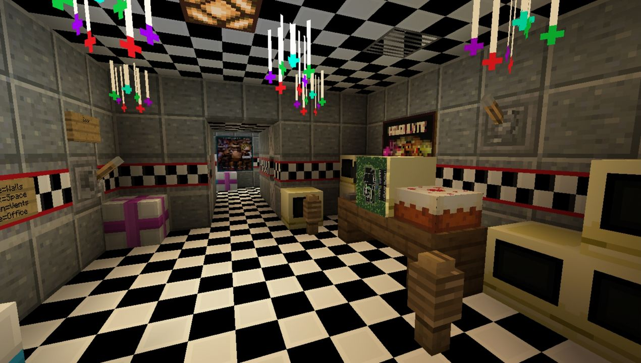 FNAF Roleplay Project MCPE map