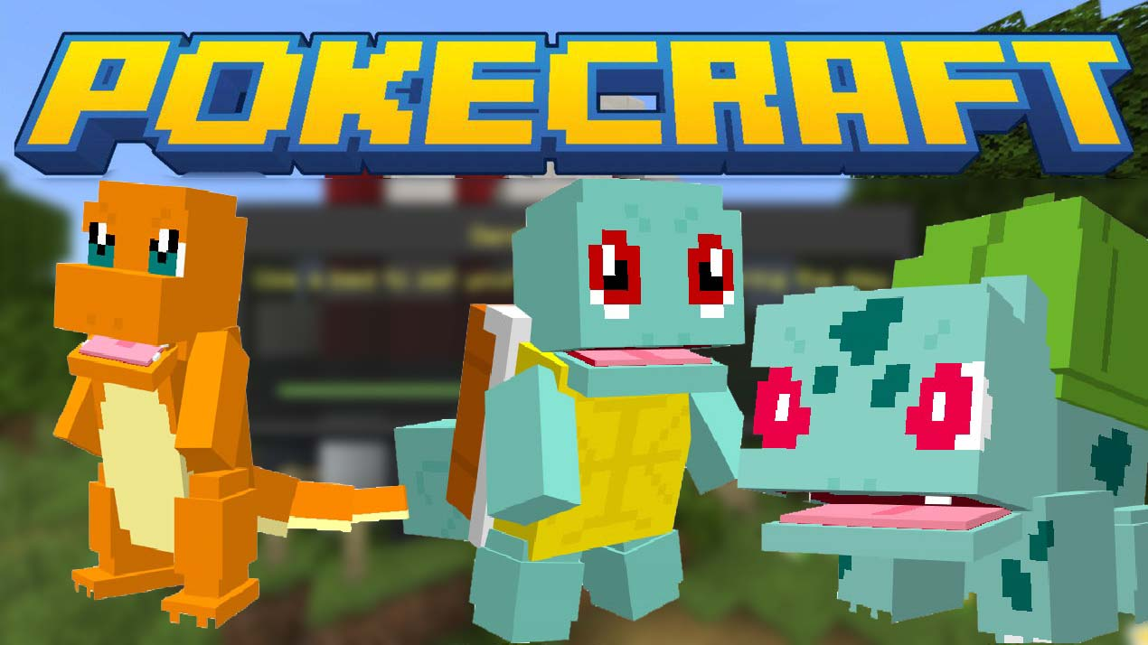 PokeCraft Addon for MCPE. (Pixelmons 2019)