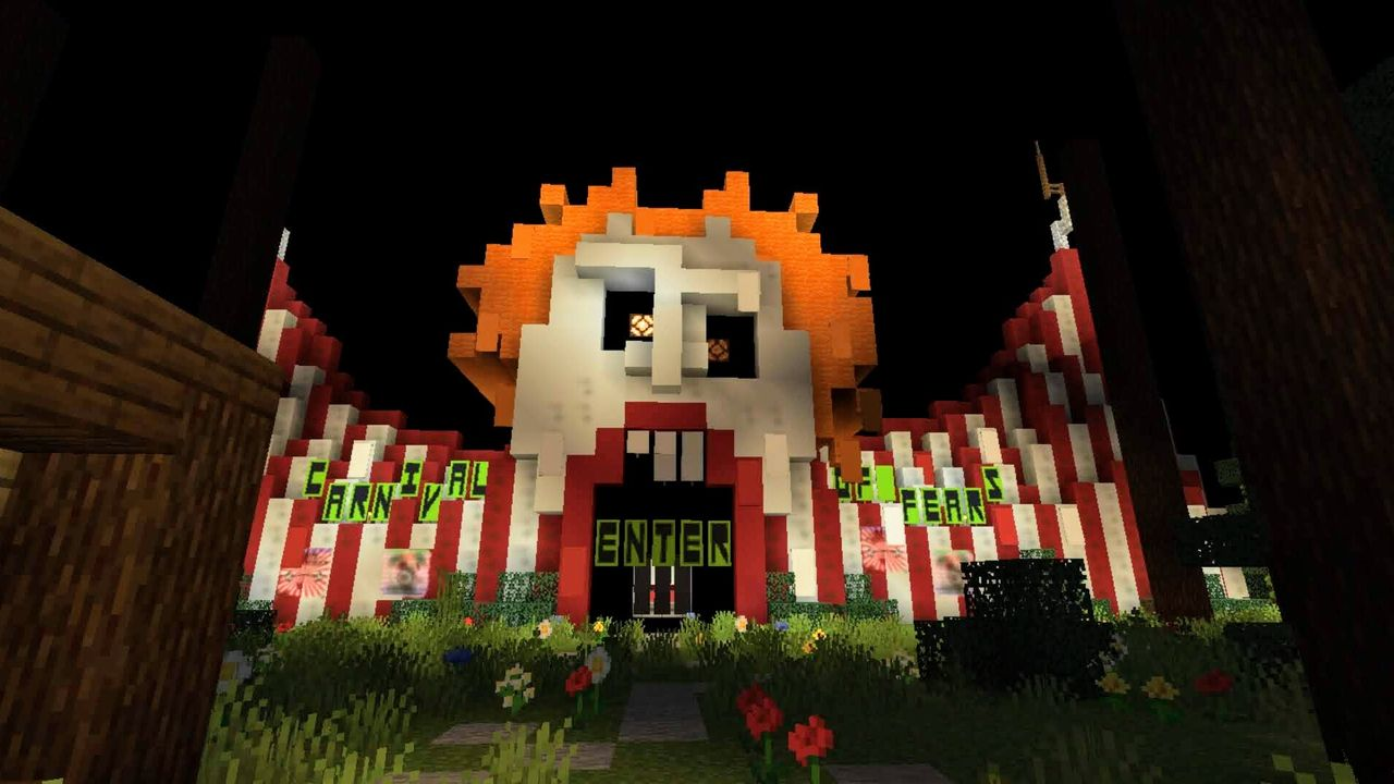 Carnival of Fears. Halloween MCPE map.