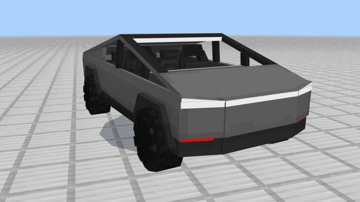 image for 1Tesla CyberTruck Mod for MCPE
