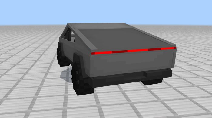 image for 2Tesla CyberTruck Mod for MCPE
