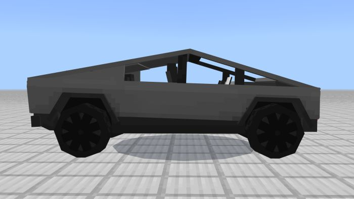 image for 3Tesla CyberTruck Mod for MCPE