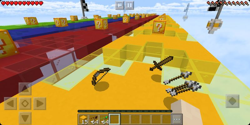 image for 2Lucky Block New Race MCPE map