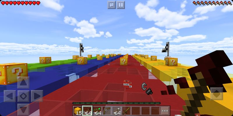 image for 3Lucky Block New Race MCPE map