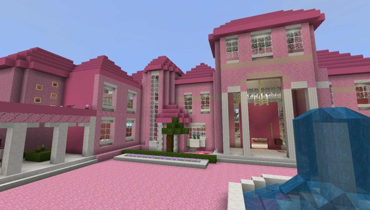 Pink House Map For Mcpe All For Minecraft Pe Game