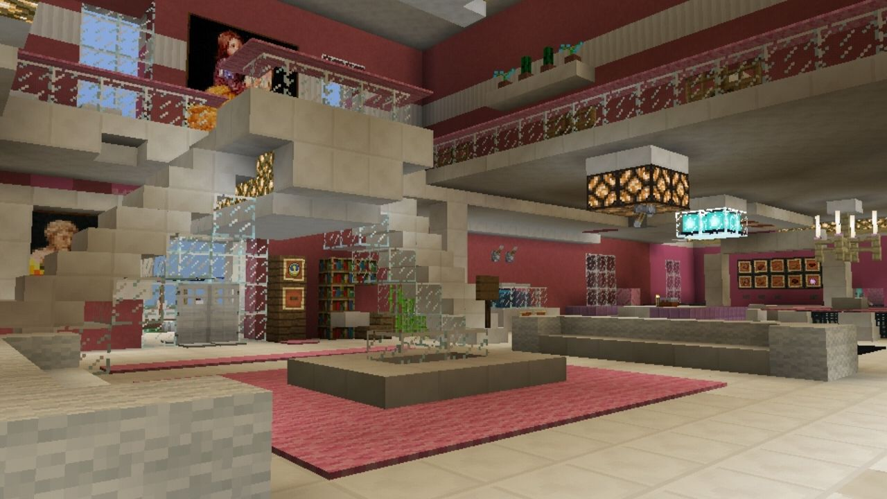 image for 2Pink House map for MCPE